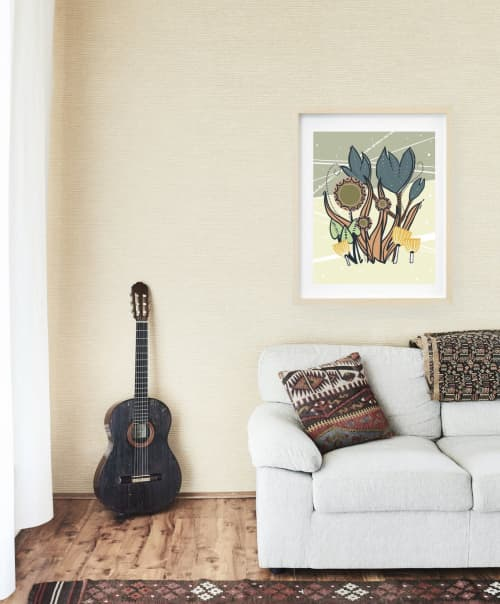 Paintings by Birdsong Prints seen at Creator's Studio, Denver - Scandinavian Print, Botanical Art