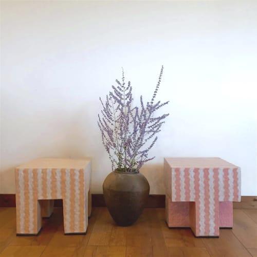 Ric Rac Stool Set   Chairs by Kelsie Rudolph