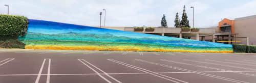 Street Murals by Chris Trueman at Montclair Place, Montclair - San Gabriel Mountain mural