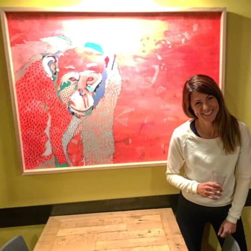 Paintings by Emily Reid seen at Laughing Planet, Reno - Chimpanzee Painting