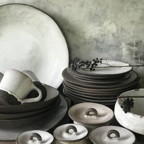 Pearl Glaze Dinnerware | Ceramic Plates by Melissa Lellouche