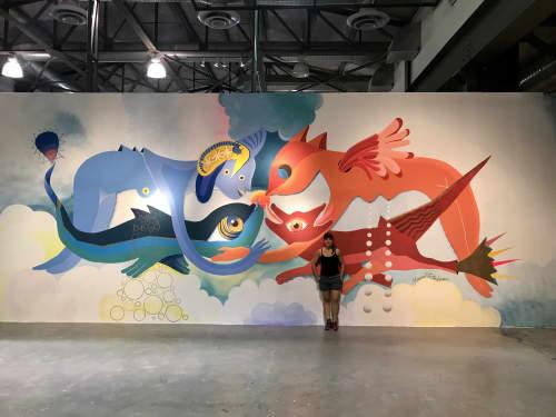 """""""Oro líquido"""" / """"Liquid Gold""""   Murals by Marisol D'Estrabeau   Centro de las artes in Monterrey"""