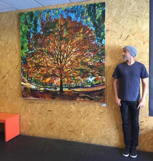 Paintings by Noel Hefele seen at BYKlyn Cycle, Brooklyn - Sugar Maple