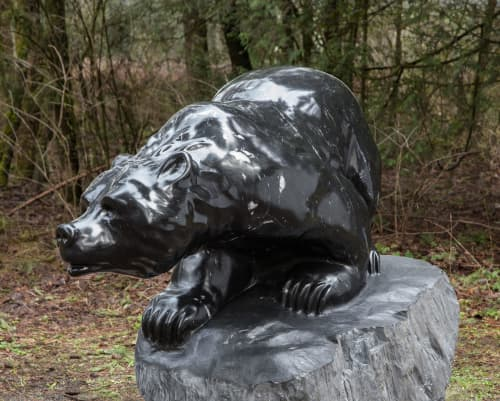 """Sculptures by Cathryn Jenkins seen at Private Residence, Langley - """"Black Beauty"""""""