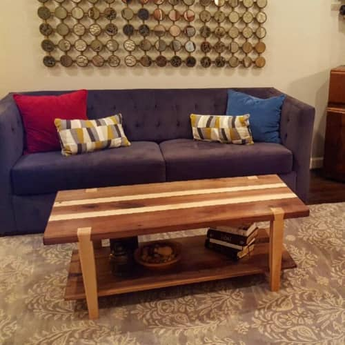 Tables by Grain & Gauge seen at Private Residence, Addison - LeMans Dovetail Coffee Table
