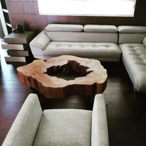 Tables by Once a Tree seen at Private Residence, Houston - Live Edge Coffee Table