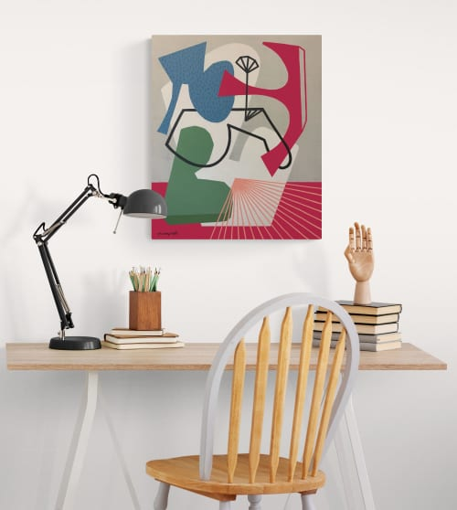 Stay Thirsty abstract canvas painting | Paintings by Gwen Gunter
