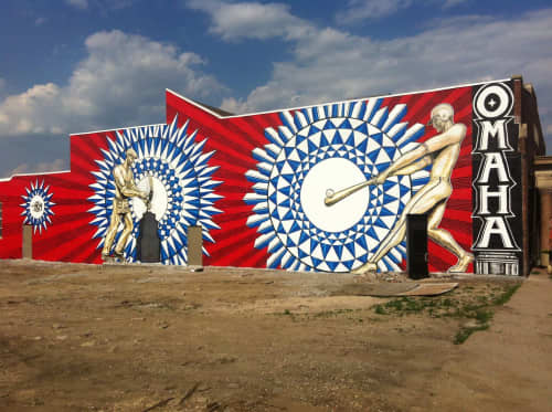 """""""Home Run"""" mural   Murals by Justin Queal   J.F. Bloom & Co in Omaha"""