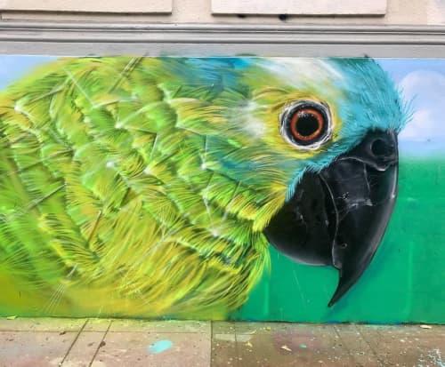 Street Murals by Max Ehrman (Eon75) seen at PRAIRIE, San Francisco - Parrot Mural