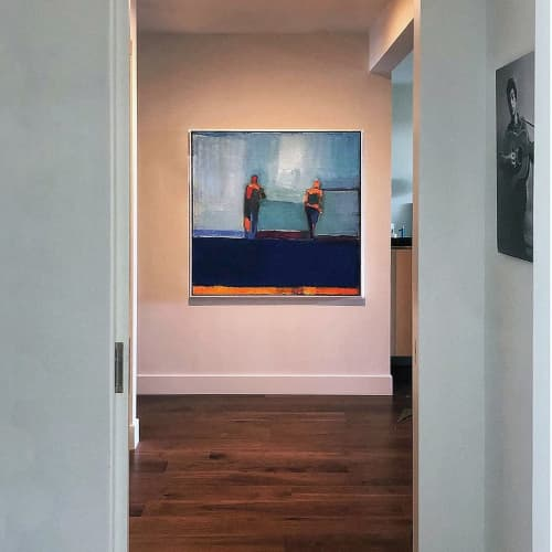 Paintings by Sandy Ostrau - Into Blue