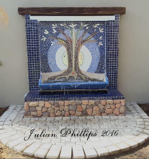 Mosaic Water Feature   Public Mosaics by Julian Phillips Mosaic
