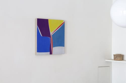 Liner Notes, oil on linen | Paintings by Joanne Freeman | Amelie, Maison d'art - Art Room in Paris