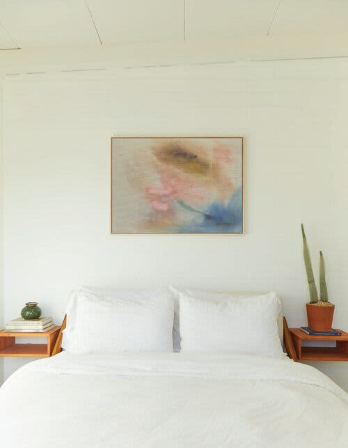 Paintings by maja dlugolecki - good luck charm - linen print