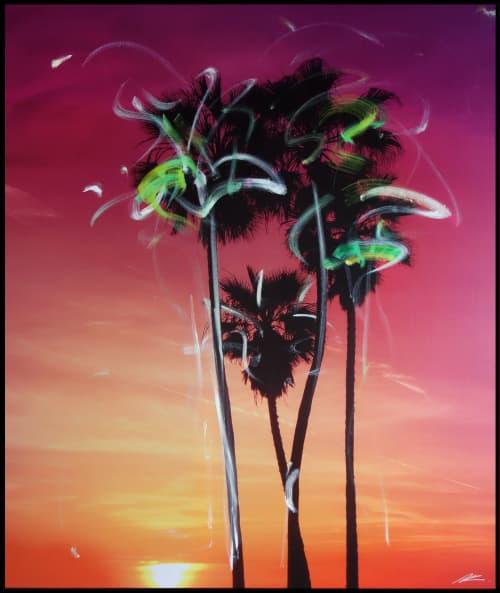 Paintings by Pete Kasprzak seen at Artspace Warehouse, Los Angeles - Palms 1