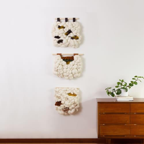 Freckles   Wall Hangings by Keyaiira   leather + fiber