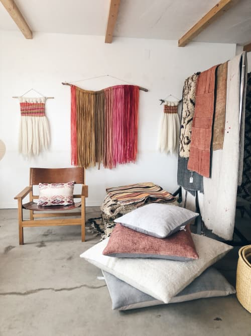Vintage Hemp Floor Cushions | Pillows by HOME | Shop on the Mesa in Yucca Valley