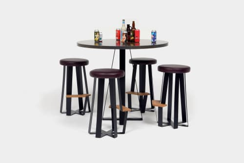 Tables by ARTLESS seen at Private Residence, Los Angeles - ARS Counter + Bar Stools