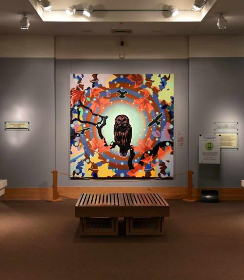 """Paintings by Peter D. Gerakaris Studio seen at National Museum of Wildlife Art, Jackson - """"Caravan (Owl)"""" - National Museum of Wildlife Art"""