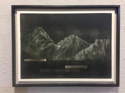 """Mountains"" | Art & Wall Decor by Johann Booyens Artist and Printmaker | Art B Gallery in Cape Town"