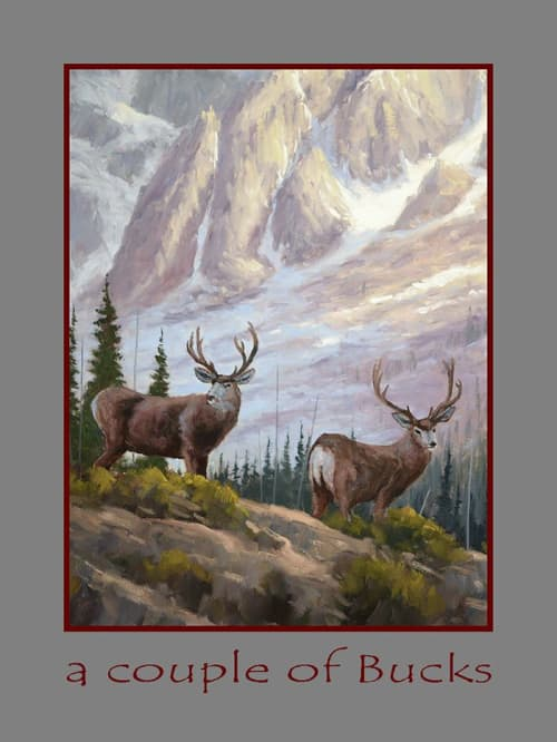 Paintings by Fred Choate Fine Art - A Couple of Bucks