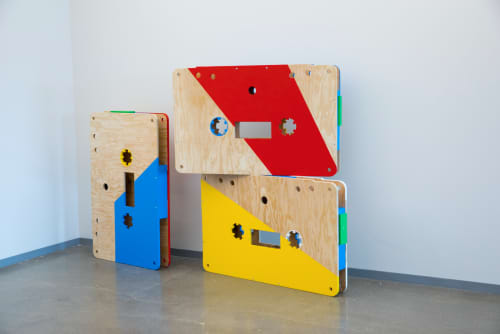 Sculptures by ANTLRE - Hannah Sitzer at Google RWC SEA6, Redwood City - Installation art - Cassettes