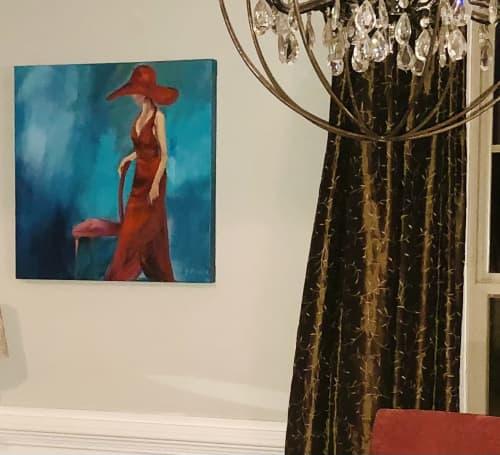Lady in Red | Paintings by Marilyn Landers