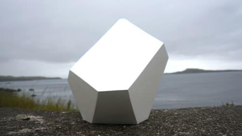 Public Sculptures by Dameon Lester seen at Fish Factory, Creative Center of Stöðvarfjörður, Stöðvarfjörður - Humble / B-15 (In White)
