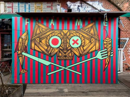 Murals by Isakov seen at Berlin, Berlin - Fame