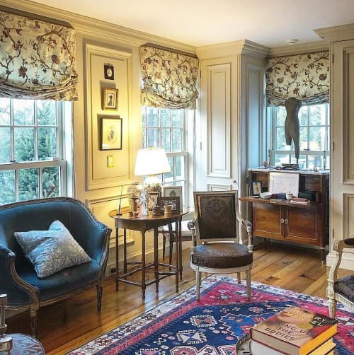 Curtains & Drapes by Chelsea Textiles seen at Private Residence, Kent - Garden of Eden