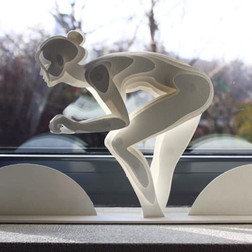 Sculptures by Alex Lidagovsky seen at Private Residence, Kyiv - Paper Sculpture