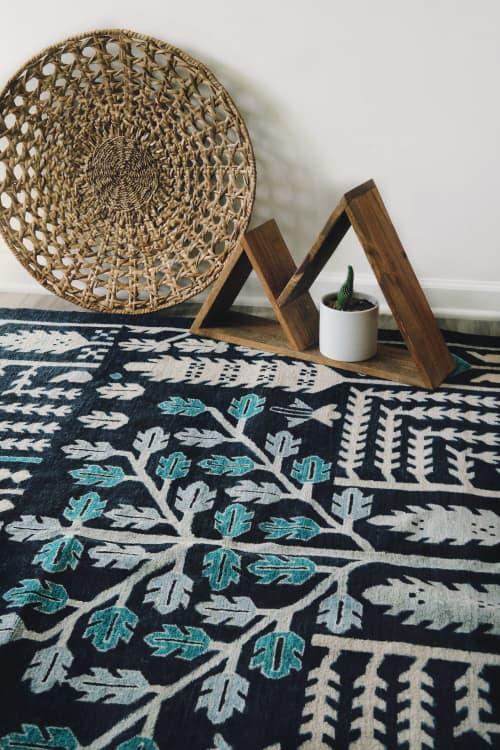 Rugs by Qadimi - Origins in Indigo Afghan Persian Rug