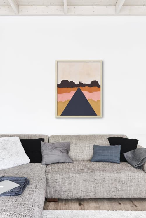 Paintings by Birdsong Prints seen at Creator's Studio, Denver - Abstract Landscape Art Print