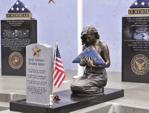Public Sculptures by Sutton Betti seen at West Point, West Point - Gold Star Wife