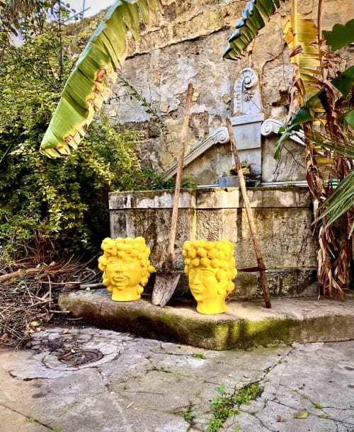 Sculptures by Patrizia Italiano seen at Private Residence, Palermo - Queen and King Piana of Lemon