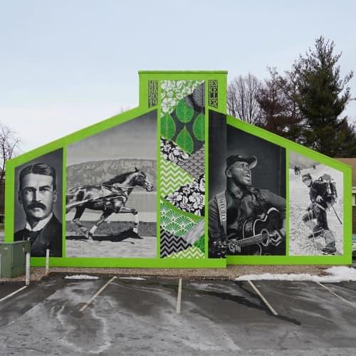 Elmwood, Through the Ages. | Street Murals by Ben Keller Art