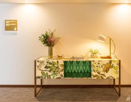 Linens & Bedding by Habitat Improver - Furniture Restyle and Applied Arts seen at Hotel Estrela de Fatima, Fátima - Floral Meets Chevron