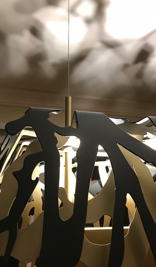 Pendants by Brandon Perhacs - Black and Brass Custom Lighting