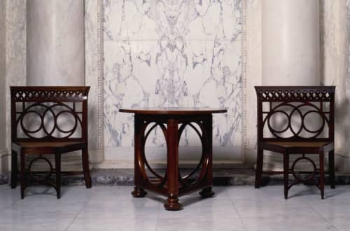 Octagonal Chair   Chairs by Lutyens Furniture & Lighting