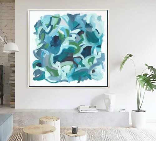 'BELL BOTTOM BLUES'   Paintings by Linnea Heide contemporary fine art