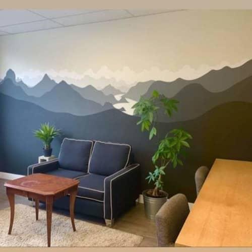 Murals by Liesl • Design Paint Mural seen at Squamish, Squamish - Gradient landscape murals