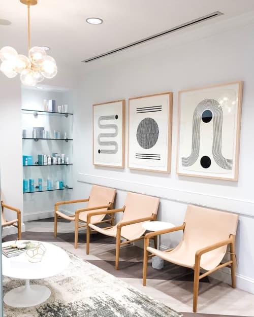 Chairs by Barnaby Lane seen at Kalos Facial Plastic Surgery LLC, Atlanta - Smith Canvas Back Oak - Rose Blush