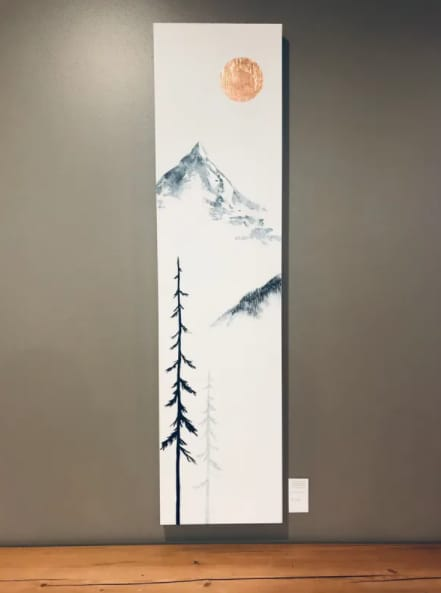 Paintings by Aimy Van der linden seen at Good Earth Coffeehouse - Calgary City Hall, Calgary - Community- Contemporary Canadian Landscape Painting