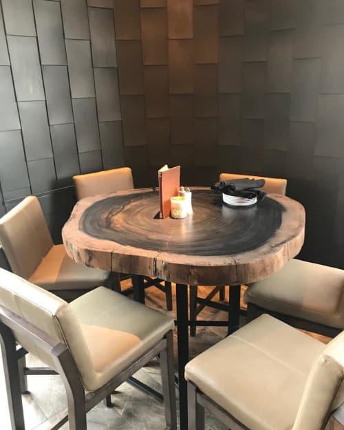 Ebonized Parota bar table | Tables by Created Hardwood | Ocean Prime in Denver