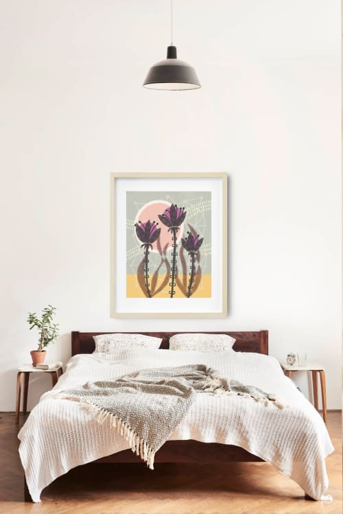 Paintings by Birdsong Prints - Vintage Style Flower Illustration Print