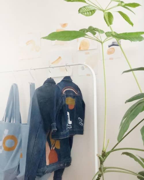 Apparel & Accessories by Quinnarie Studio - Hand Painted Denim Jacket