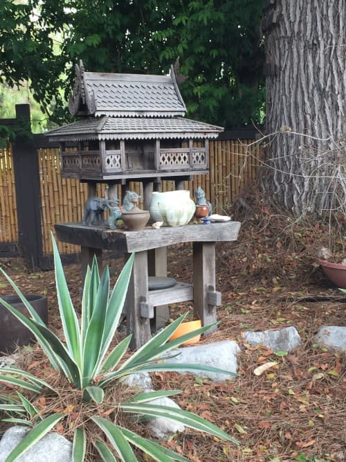 Vases & Vessels by Solana Beach Pottery seen at Private Residence, Solana Beach - Spirit House Offering Vessel