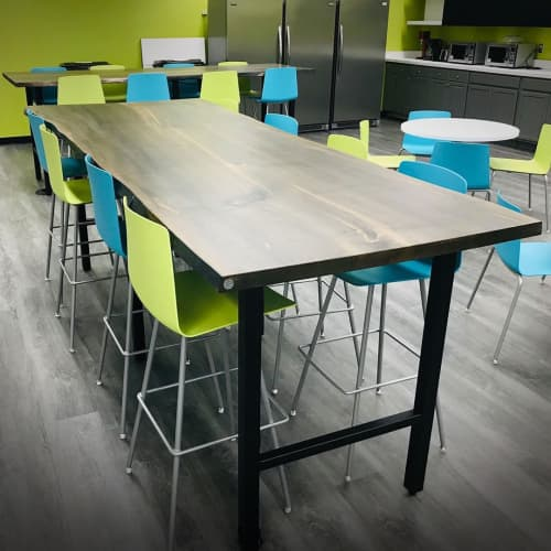 Ebonized Ambrosia Maple Community Tables   Tables by Created Hardwood   The Ohio State University in Columbus