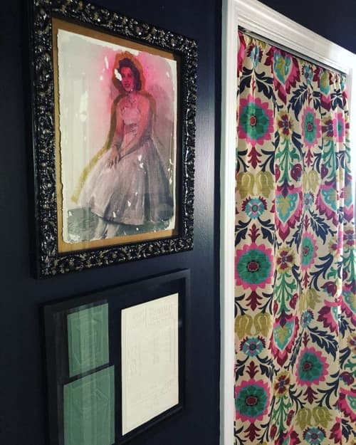 Paintings by Baleigh Ann Kuhar seen at Private Residence, Memphis - Acrylic and photo transfer - Sonja in Memory