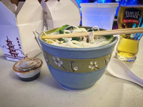 Chopstick Noodle Bowls   Ceramic Plates by S.S. Robinson Pottery   Samuel Adams Boston Brewery in Boston