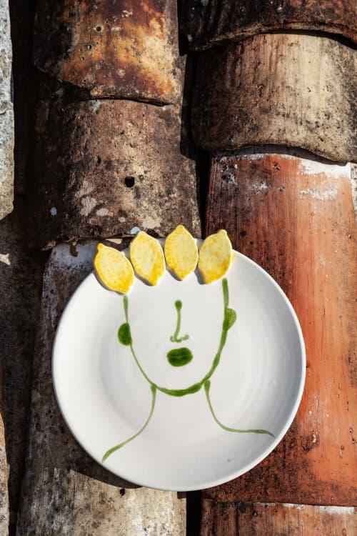 Ceramic Plates by Patrizia Italiano seen at Creator's Studio - Filomena plate with reliefs